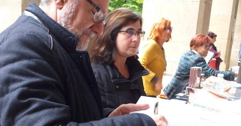 Fotos de nuestro autor Fermín Alonso en la Feria del Libro de Zaragoza | Ediciones Albores